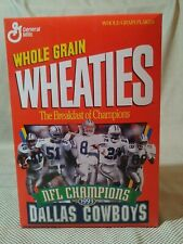 Wheaties Dallas Cowboys 1993 Super Bowl XXVIII Champions Cereal Box Never Opened