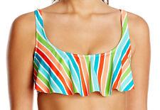 Bikini Lab Junior Womens Rainbow Perfection Bow Back Hanky Crop Top Size Medium