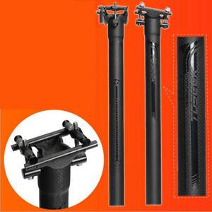 3K/UD Carbon Fiber Seatpost 27.2/30.8/31.6mm Bicycle MTB Road Bike Seat Tube