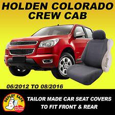 Car Seat Covers Holden Colorado Crew Cab Dual RG LTZ 6/2012-8/2016 Airbag Safe