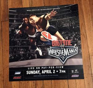 WWE WRESTLING JOHN CENA WRESTLEMANIA 22 SUBWAY POSTER 21X21 INCHES