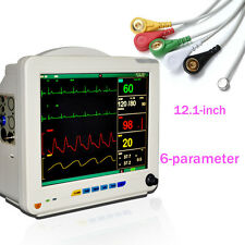 Top A Color Patient Monitor 6 parameter Vital Sign ECG NIBP TEMP SPO2 PR Bedside