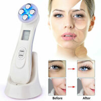 Electroporation RF EMS Facial Machine LED Photon Mesoterapy Tool Face Lifting