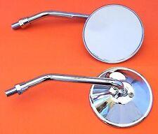 2 espejo-cromado REDONDO YAMAHA Adaptador rosca a la izquierda CROMADO
