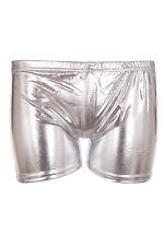 Womens Metallic Wet Look Hot Pants Shorts Ladies Shiny Disco Party PU Mini Short