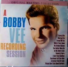 BOBBY VEE RECORDING SESSION NEW CD ORIGINAL MASTERS COLLECT