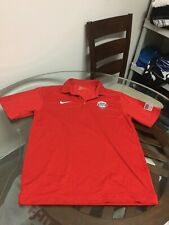 Nike Dri-Fit Team Usa Basketball Red Polo Golf Shirt Medium Excellent Cond