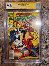 AMAZING SPIDER-MAN #362 CGC 9.8 SS 3x Signed By STAN LEE & M BAGLEY & EMBERLIN