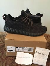 Pre Owned Adidas Yeezy Boost 350 Pirate Blacks BB5350 Size 9.5