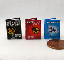 THE HUNGER GAMES Miniature Book Set of 3 Dollhouse 1:12 Scale Readable Books