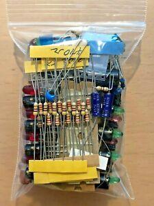 Electronics Component Parts Bag Mixed Bag LOT Caps Resistors LED DIY ALL NEW!