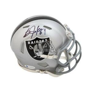 Bo Jackson Autographed Oakland Raiders Speed Mini Football Helmet - BAS COA