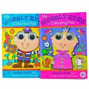 Wobbly-Eyes Kids Colouring Books