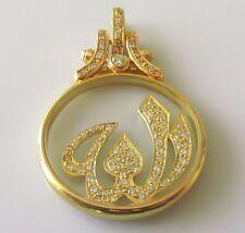 "Secondhand ""Arabic Allah God"" 18ct Yellow Gold Multi Diamond Charm/Pendant"