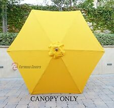 9ft Patio Outdoor Market Umbrella Replacement Canopy Cover Top 6 ribs. Yellow