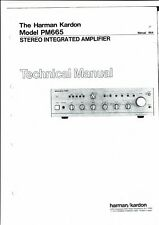 Harman Kardon Service Manual für model PM 665  Copy