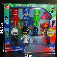 PJ Masks Action Figure Owlette Catboy Gekko Lunar Girl Ninja 6 Pcs Toy Gift Box