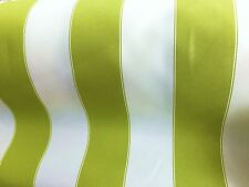 "LIME WHITE WATERPROOF OUTDOOR CANVAS FABRIC 60"" 600 DENIER FABRIC BY THE YARD"