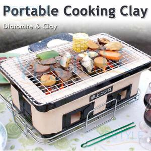 Charcoal BBQ Grill Japanese Korean Ceramic Hibachi BBQ Table Yakitori Barbecue