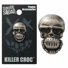 Suicide Squad NEW * Killer Croc Lapel Pin * Pewter Skull Charm Pin Back Licensed