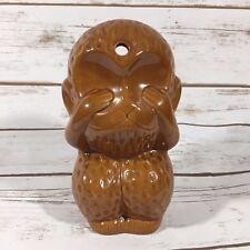 "Monkey Tiki Mug See No Evil Hawaiian Island Tikis 6.5"" Aloha O"