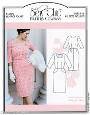 Sew Chic Beatrice Classic Dress Vintage 60s Style Sewing Pattern LN1310 sz 2-18