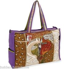 Laurel Burch Mythical Horses OVERSIZED Tote Travel Beach Tack Sport Bag Retired