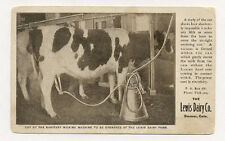 DENVER ADV LEWIS DAIRY FARM MILKING A COW BY ELECTRICITY  OLD POSTCARD PC7480