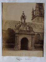 Frce Carnac Bretagna, Foto Albumina, Vintage Albume D'Uovo, Verso 1880