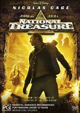 NATIONAL TREASURE DVD=NICOLAS CAGE=REGION 4 AUSTRALIAN RELEASE=BRAND NEW/SEALED
