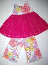 Custom Boutique Floral Skirted Tank Capri 2pc Set 3T 4T
