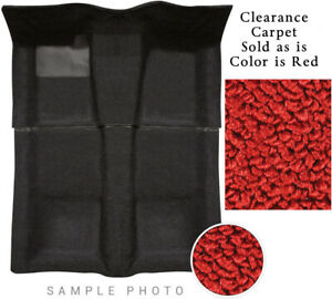 55-6 Ford Full Size Car Carpet Set 515 Red 2 Pc 80/20 Loop Clearance 2 Door