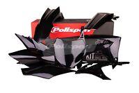 Honda CRF 250 2014 - 2015 - 2016 - 2017 Polisport Plastics Kit Set Black 90562