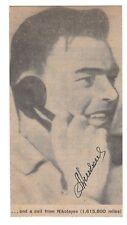 Andrian Nikolayev Signed Newspaper Portrait / Russian Cosmonaut / Autographed
