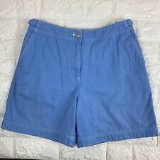 Lauren Ralph Lauren Womens Khaki Chino Shorts 4P Petite Blue High Waist Vtg