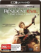 The Resident Evil - Final Chapter 4K Blu-Ray : NEW 4K Ultra HD