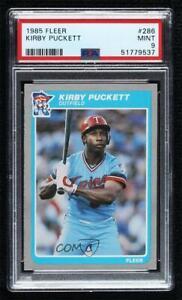 1985 Fleer Kirby Puckett #286 PSA 9 MINT RC Rookie HOF