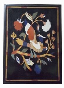 """18"""" x 12"""" Pietra dura Handmade Inlay Work Marble Side End Table Top"""