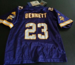 MICHAEL BENNETT Minnesota VIKINGS Football ADIDAS Toddler 3T Jersey NEW Purple