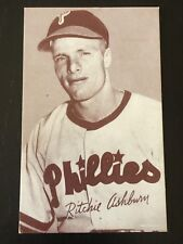 1947-66 EXHIBITS POSTCARD SIZE BASEBALL CARD RITCHIE ASHBURN EX!! RANGE