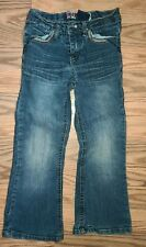 Girl's Squeeze Original Denim Straight Cut Jeans Rhinestone Embellished Size 5