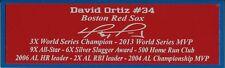 David Ortiz Autograph Nameplate Boston Red Sox Autograph Jersey Ball Photo