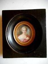 Miniature Marie-Louise,Princesse d'Orléans.Portrait.Peinture a l'huile.XVIII°.