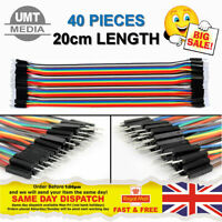 40pcs Dupont Cables MALE TO MALE Jumper GPIO Breadboard Wire Ribbon Pi Arduino