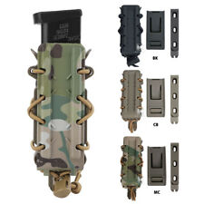 KRYDEX Tactical 9mm Pistol Mag Pouch MOLLE/Belt Clip Magazine Carrier Hard Shell