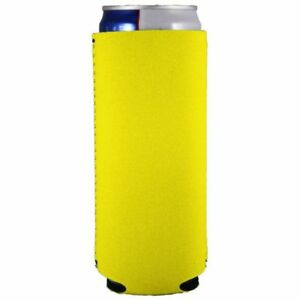 Blank Neoprene Collapsible Slim Can Coolie; Choose Color and Quantity