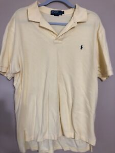 Polo By Ralph Lauren Faded Yellow Short Sleeve Polo Size L 100% Cotton