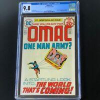 OMAC #1 (1974) 💥 CGC 9.8 White Pgs 💥 1st App of OMAC! JACK KIRBY DC Comics