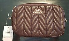 Coach fanny pack quilted leather belt bag oxblood