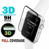 ✅3D CURVED FULL COVER Schutzglas 9H VOLLKLEBEND für Apple Watch Ser. 1 2 3 4 5 ✅